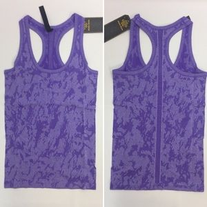 Tops - Purple Seamless Fitness Yoga Jacquard Tank Top
